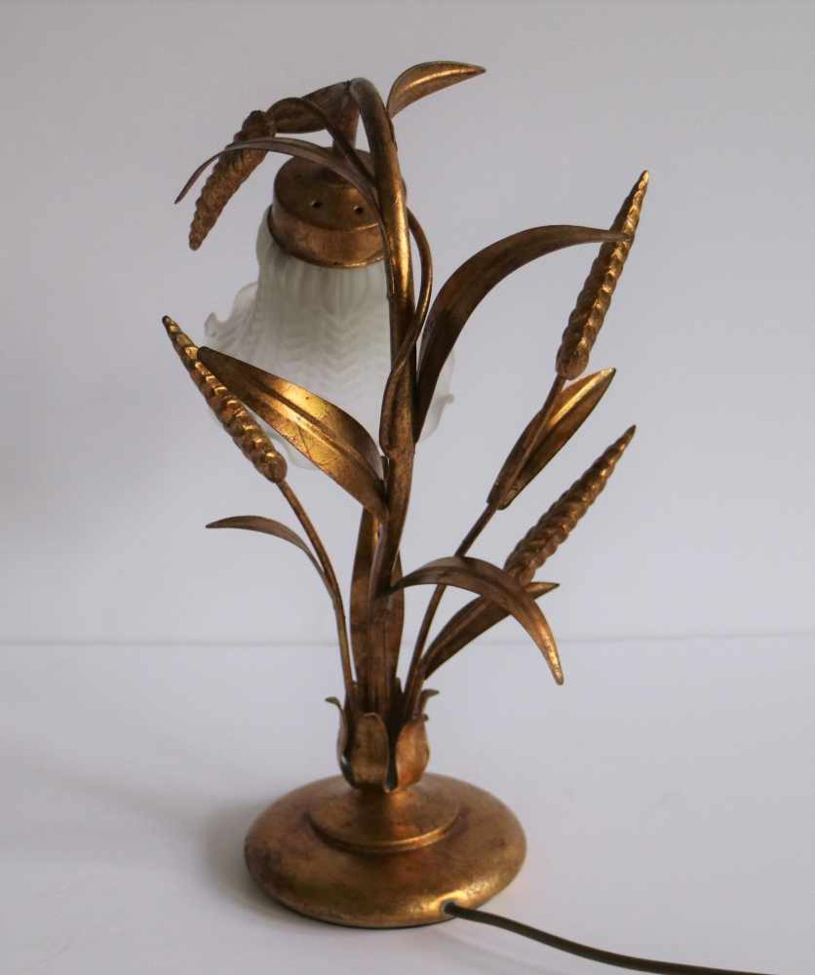 Los 111 - Table lamp with corn hair Hollywood Regency style H 38 cm