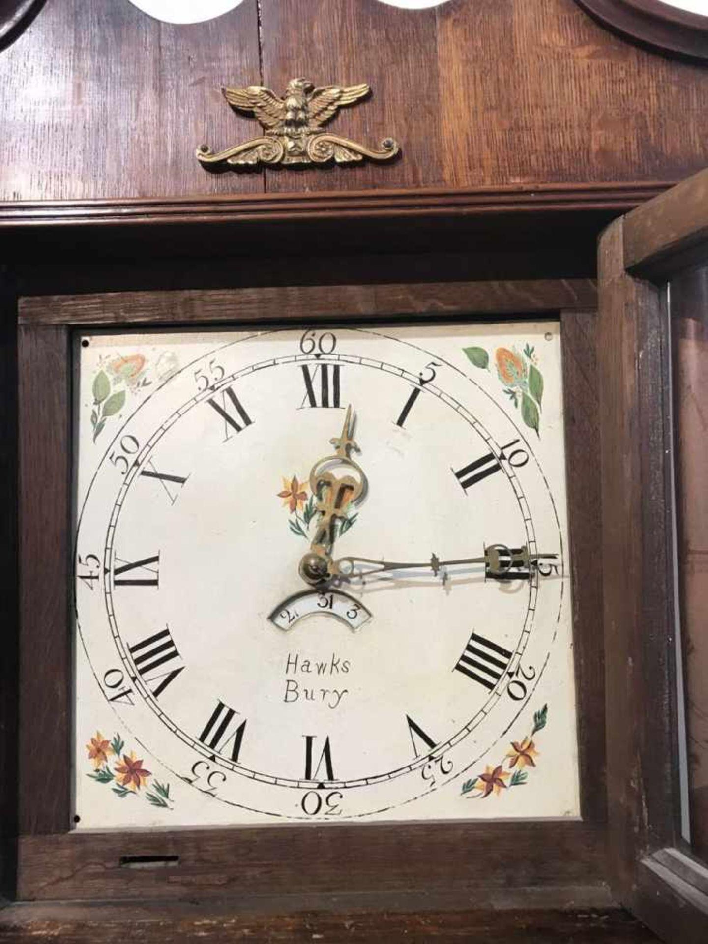 Los 191 - English standing clock Hawks Bury English standing clock Hawks Bury