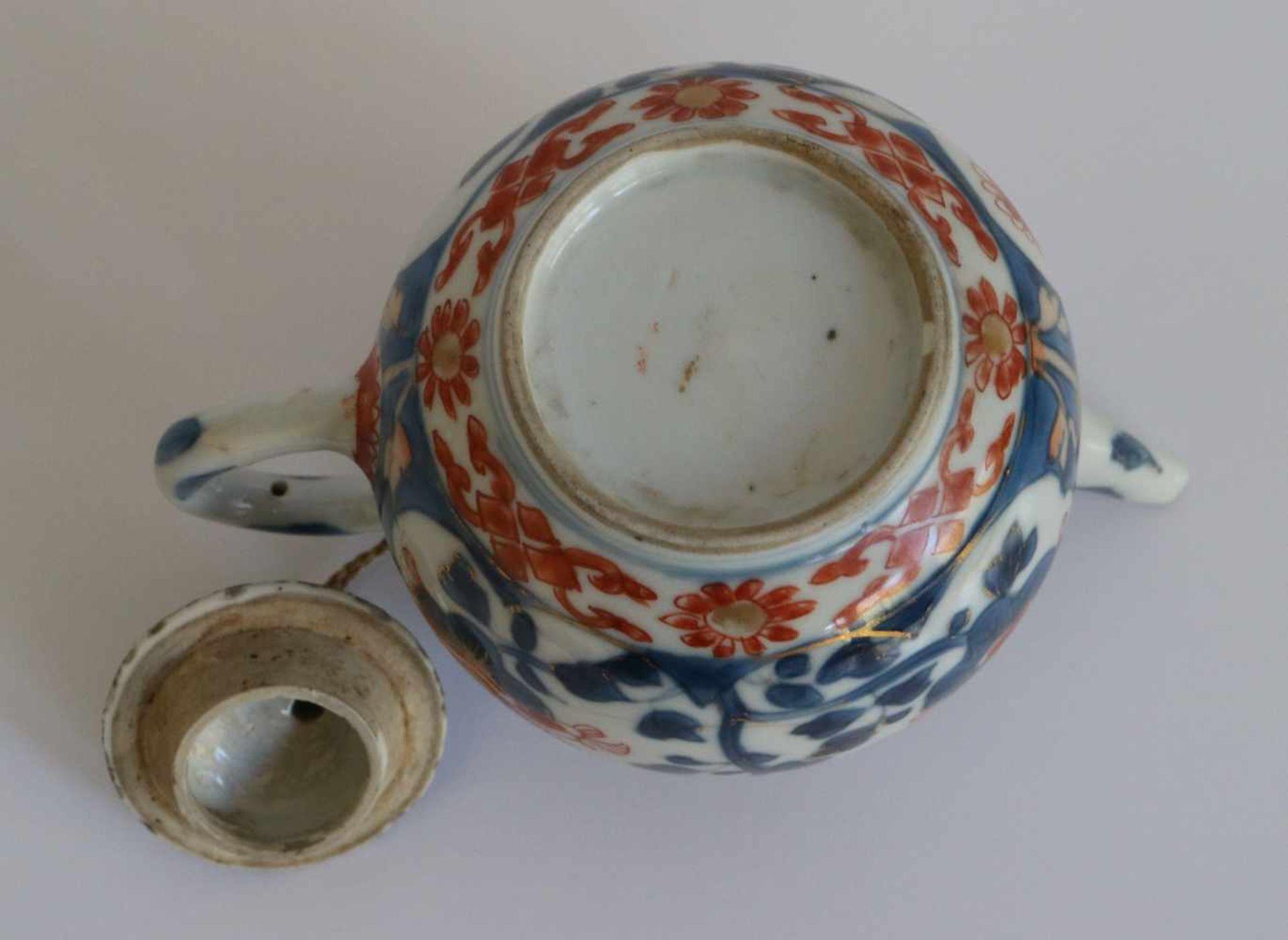 Los 1 - Chinese teapot Imari H 9,5 B 14,5 cm