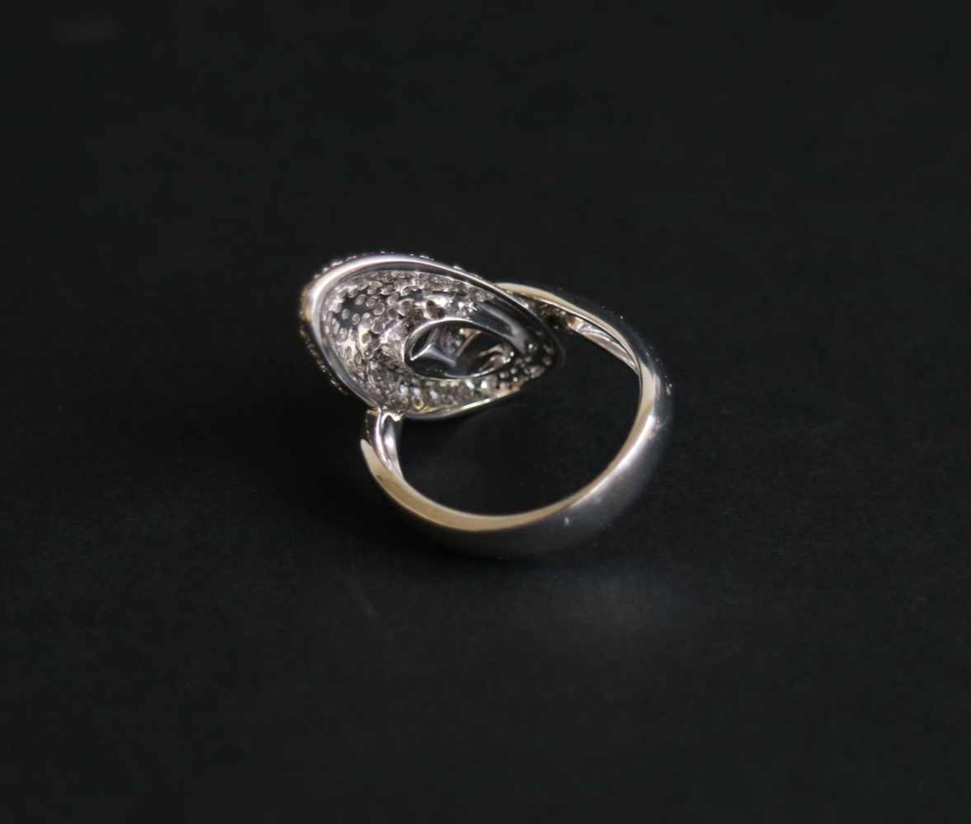 Los 947 - Ring white gold Innocence with diamond, 18Kt gold 8 gr