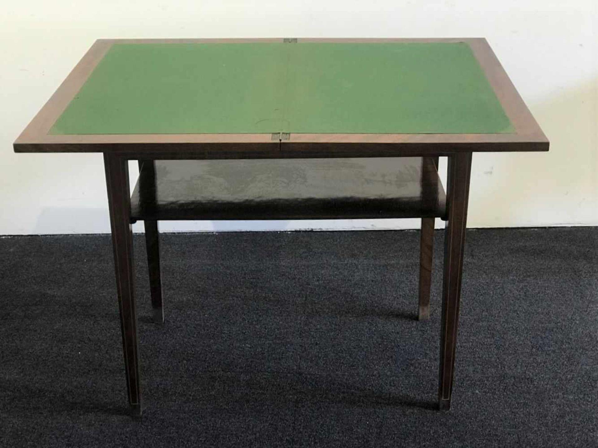 Los 113 - Card table Card table H 75, 80 x 50 cm