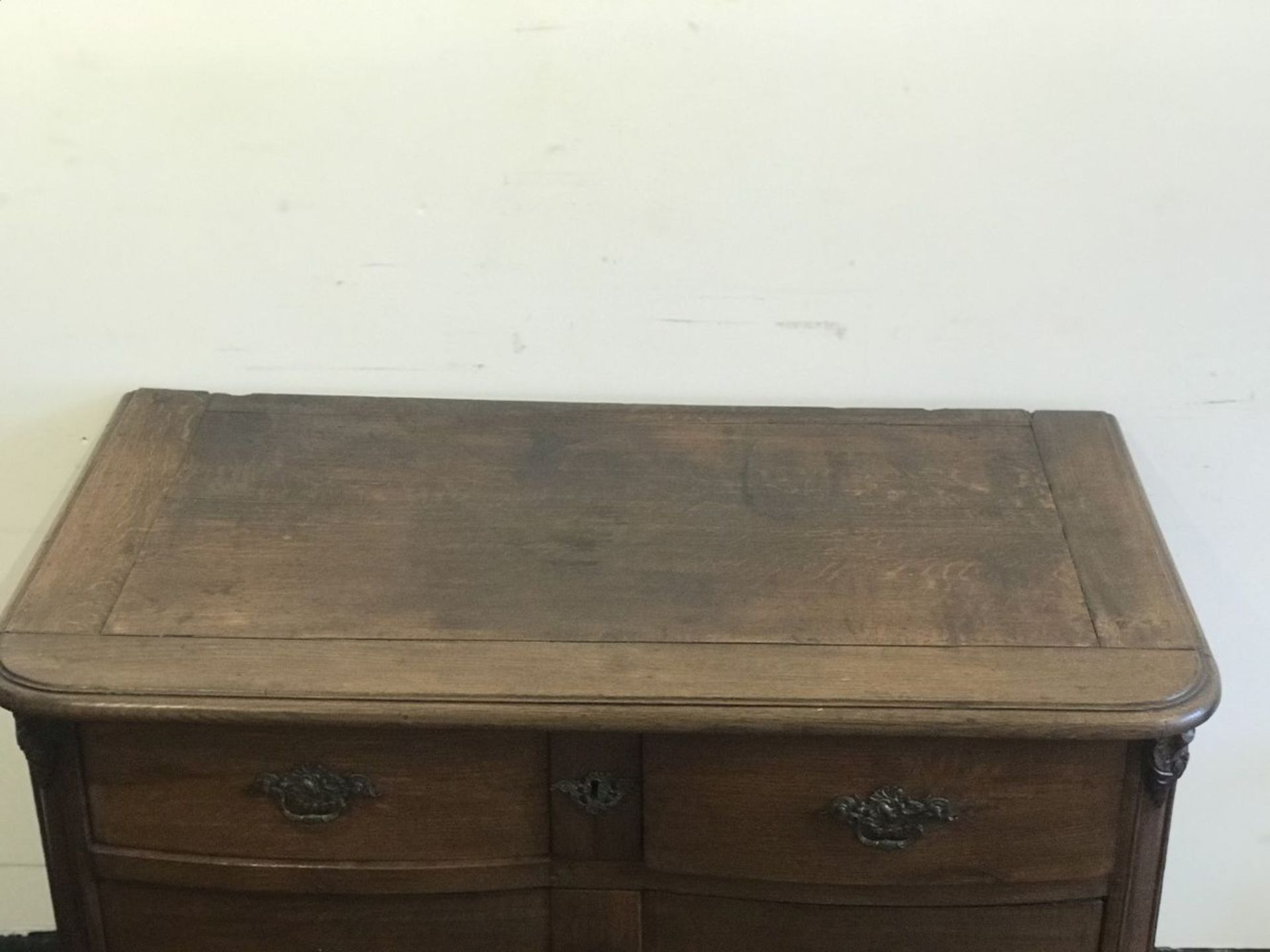 Los 115 - Chest of drawers on claw legs oak, 19th century H 86 B 123 D 68 cm