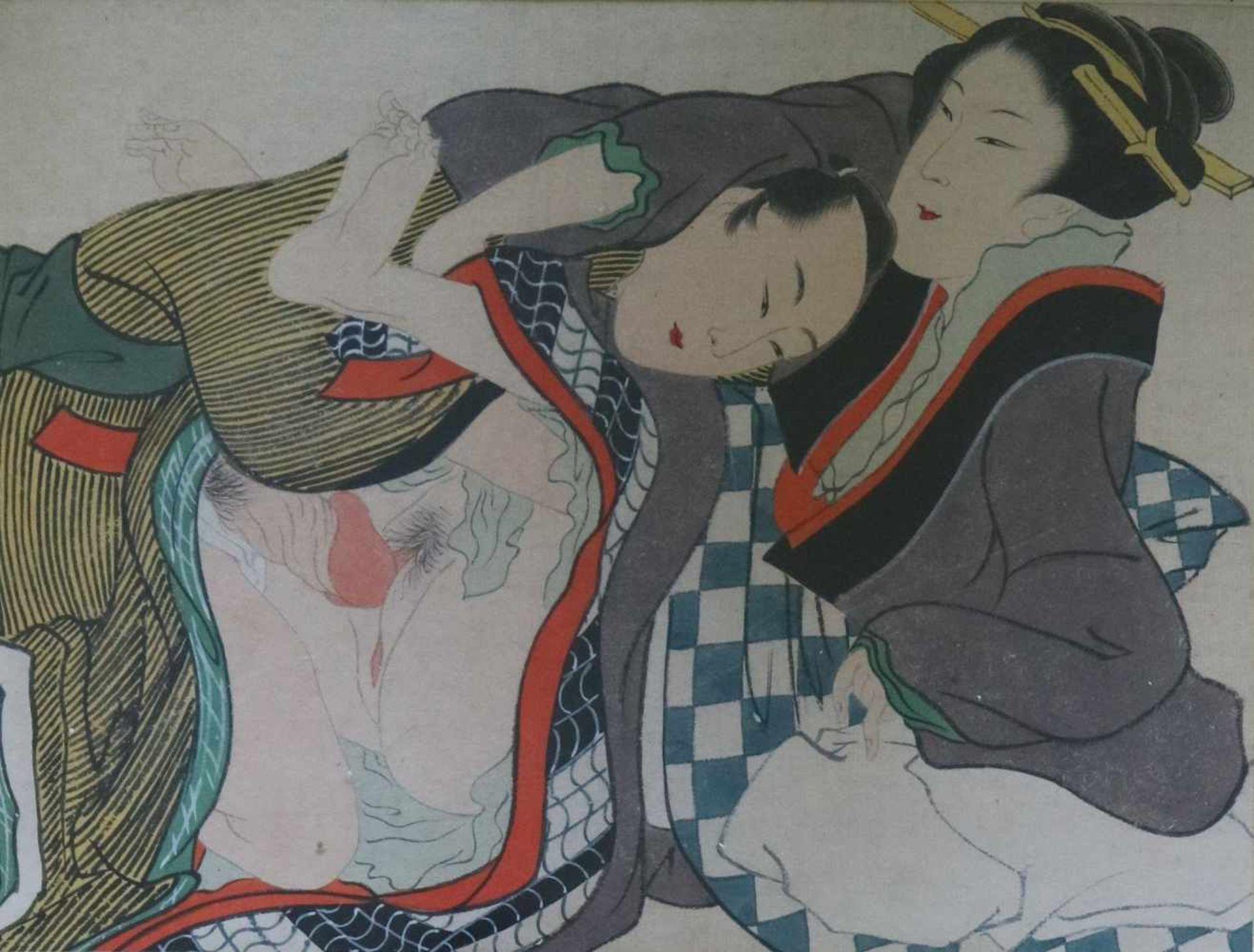 Los 68 - Japanese Shunga erotic prints (2) 31 x 21 cm