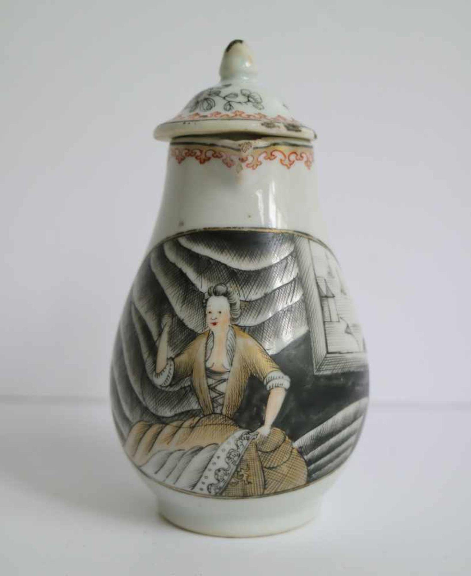 Los 501 - Chinese teapot Teapot encre de chine 18th century H 13 cm