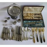 Lot silver and silver plated including Delheid H 17 dia 23 cm