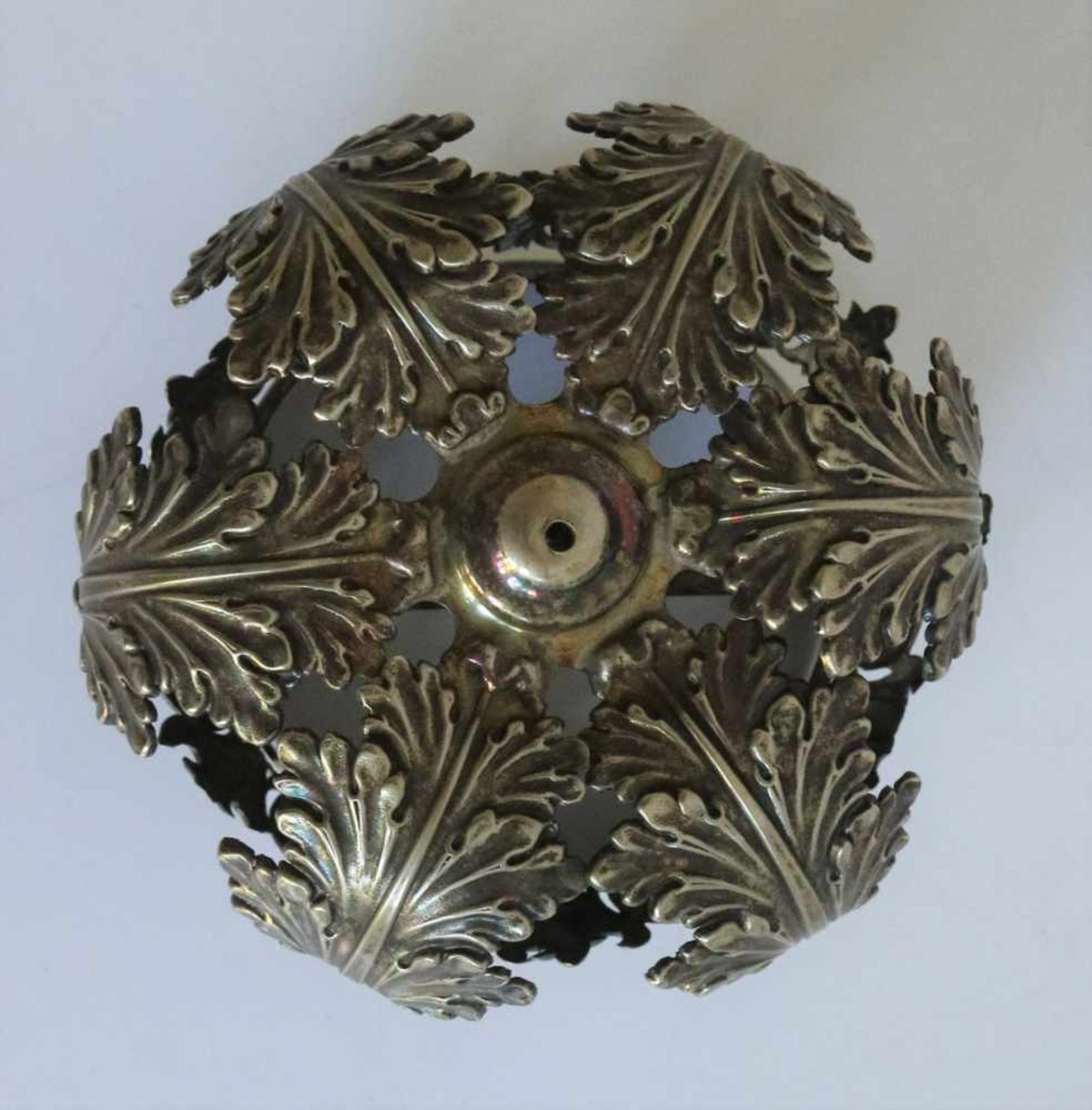 Los 15 - Silver crown baby Jesus, 19th century, 70 grams H 7 dia 10 cm