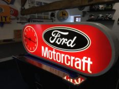 Ford Motorcraft Lightbox with clock