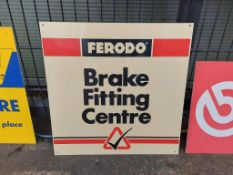 3 Fitting Centre Signs - Ferodo plastic sign, Brembo board sign & Monroe bard sign