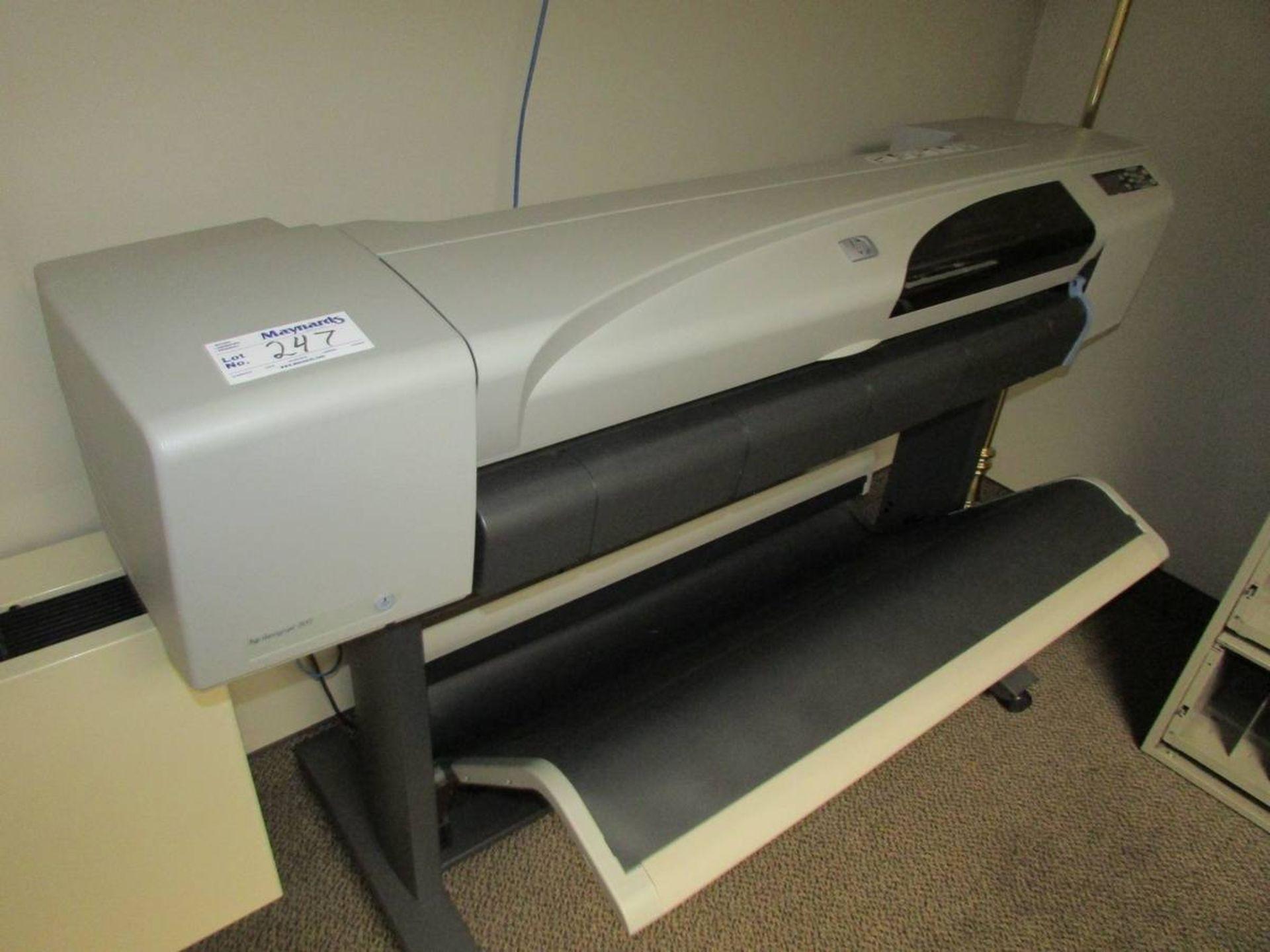 """Lot 247 - Hewlett Packard HP DesignJet 500 44"""" Plotter"""