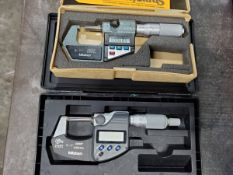 "Mitutoyo (2) 0-1"" Digital Micrometers"