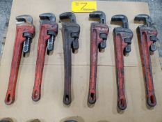 "Ridgid (6) 18"" Pipe Wrenches"