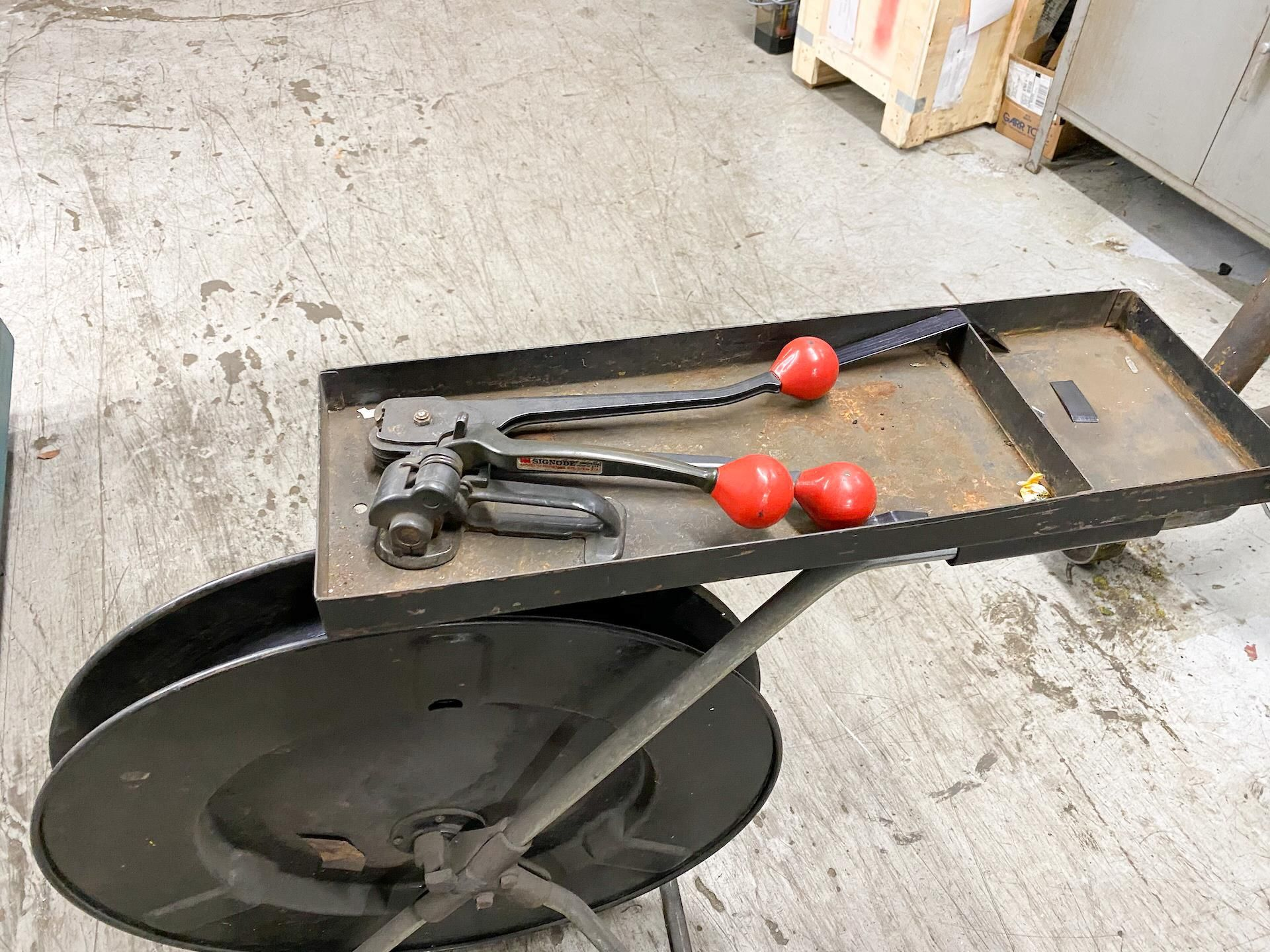 Lot 23 - Banding Cart with Banding Tools