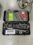 Craftsman Socket Set, Assorted Extensions, and Craftsman 26 Piece Combination Wrench Set