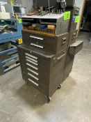 10-Drawer Tool Box w/ Contents Incl. Taps, Carbide Mills, Taper Chamfer, etc.