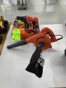 (1) Blacn and Decker Drill/Driver and (1) Black and Decker Blower/Vac