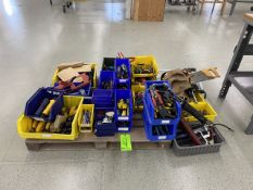 Assorted Hand Tools To Include Grease Pumps, Screw Drivers, Pliers, Hand Saws, Tape Measures, etc.
