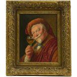 Sig. Wacker (20.Jhd.) - Portrait eines WeintrinkersDer Dargestellte in historischer Kostümierung mit