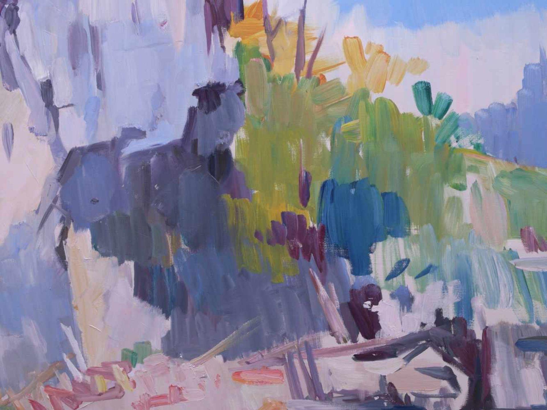 Pallas, Reinhold (1901-1970) - Meeresbucht im SonnenscheinIn schnellem, impressionistischen Stil - Bild 2 aus 3