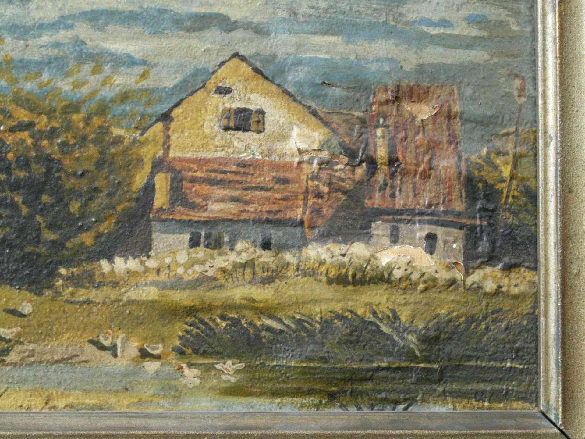 Kugler, Heinrich (1888 - ca. 1946) - Dorflandschaft Leinfarben 1898Bauerngehöft und weitere Häuser - Bild 3 aus 4