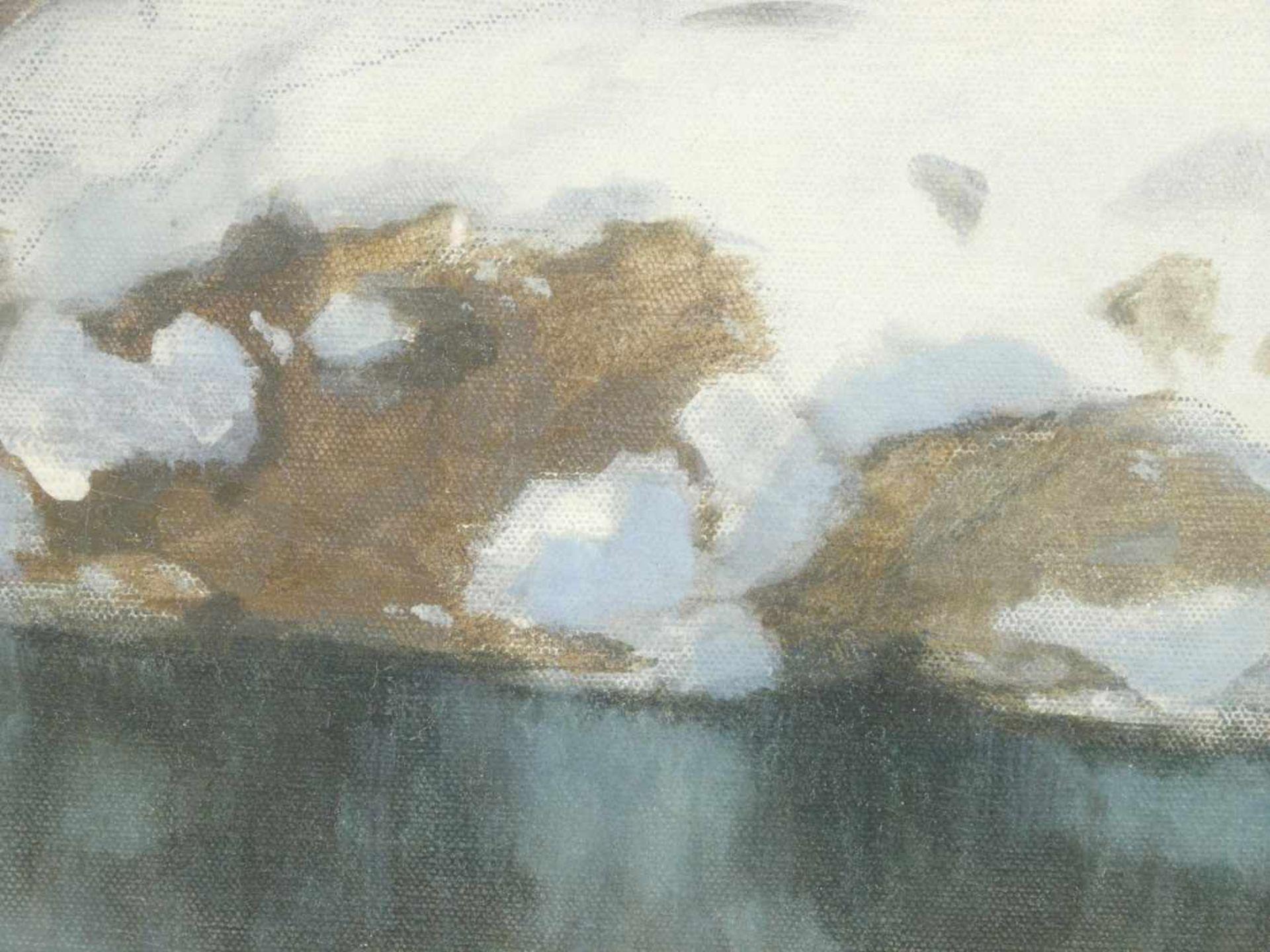 Hans Ritter von Petersen (1850-1914) - SchneeschmelzeIdyllische Winterlandschaft durch die ein - Bild 7 aus 8