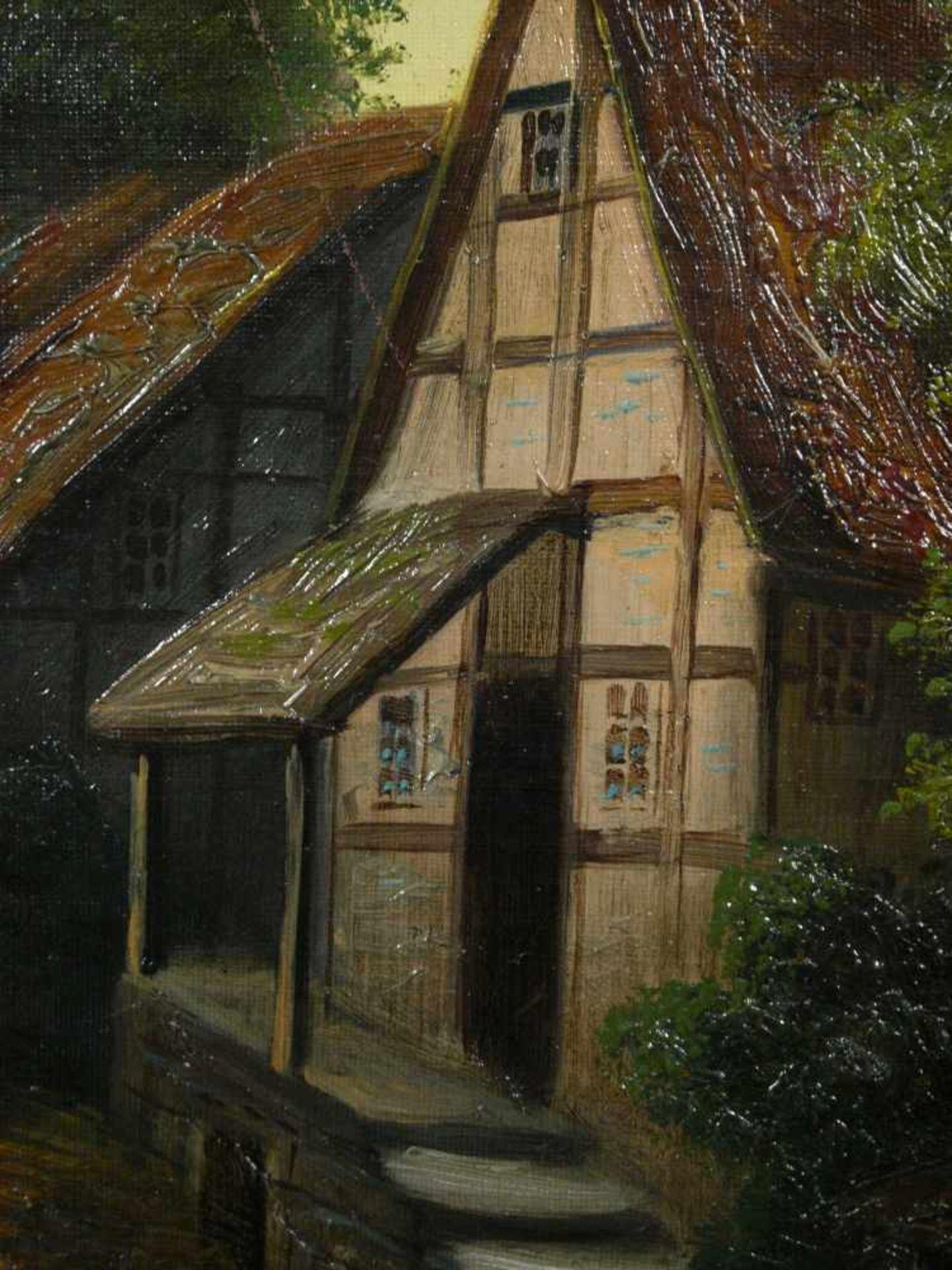Moser, Herrmann (1835-?) - Dorfstraße in NiederbayernBlick in eine typisch bayerisch dörfliche - Bild 5 aus 6