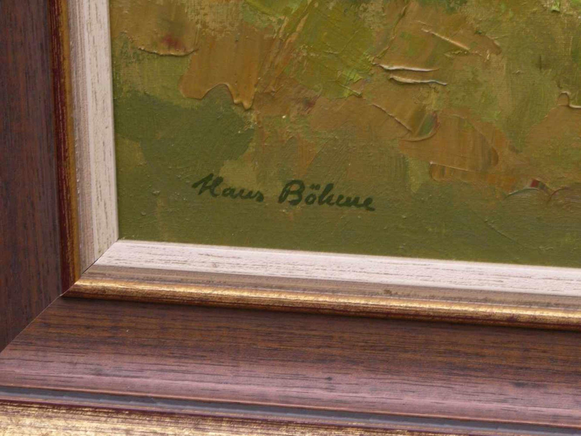 Böhme, Hans (1905-1982) - Herbstlicher LaubwaldIn golden-herbstlicher Farbpalette strahlt diese - Bild 4 aus 5
