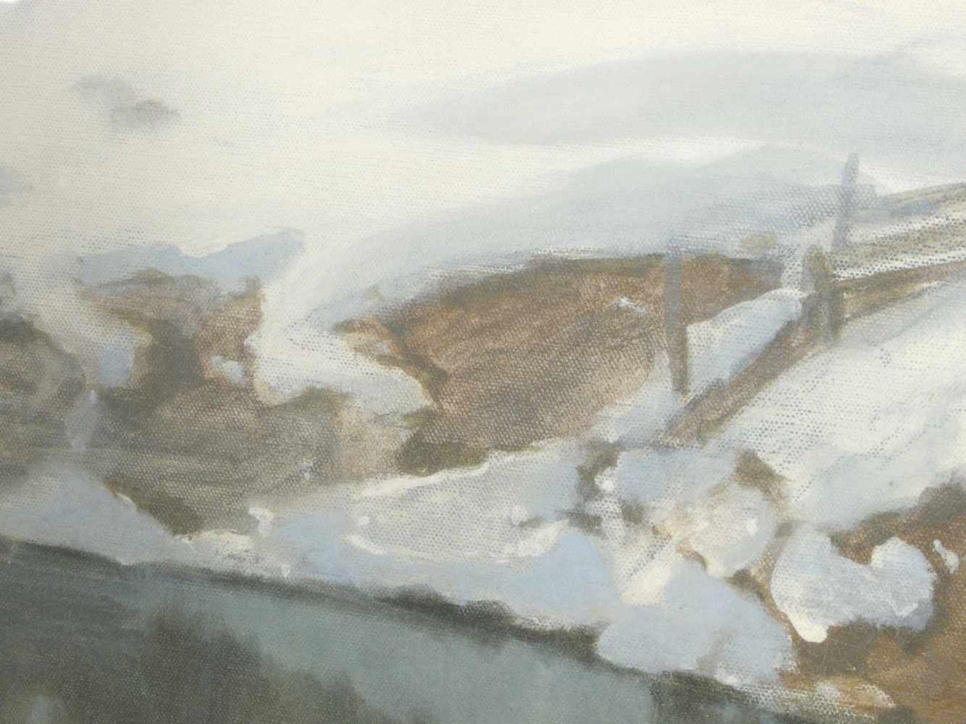 Hans Ritter von Petersen (1850-1914) - SchneeschmelzeIdyllische Winterlandschaft durch die ein - Bild 2 aus 8