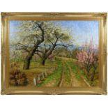 Koch, Michel (1853-1927) - Blühende FrühlingslandschaftFriedvolle Darstellung eines von blühenden