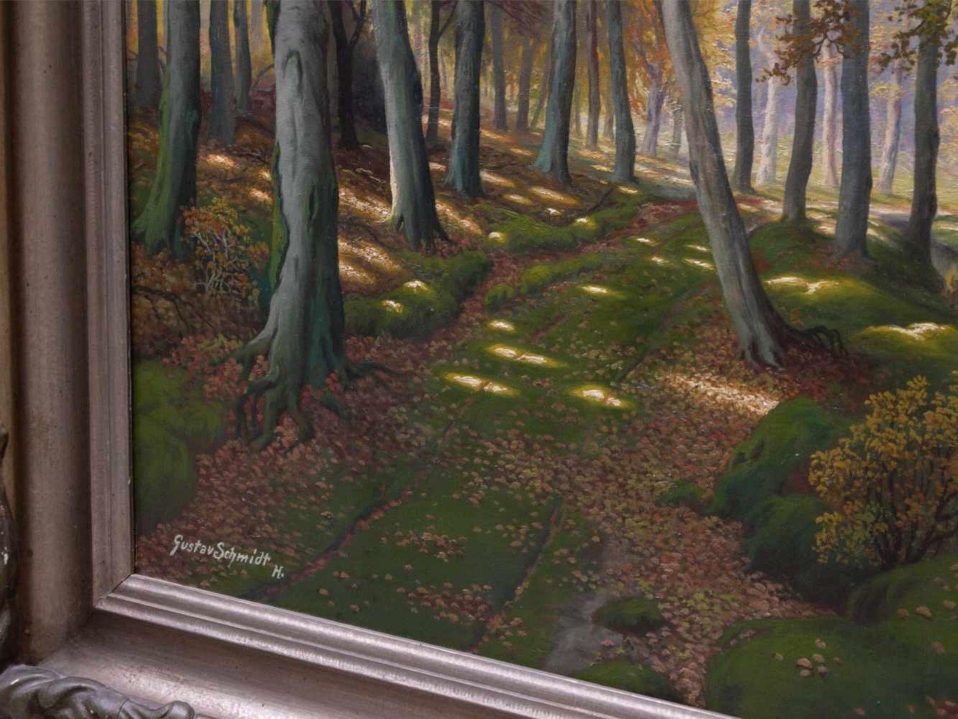 Schmidt, Gustav (1888-1972) - Lichter LaubwaldEin von hellem Licht durchfluteter Laubwald in - Bild 5 aus 7