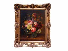 Holstayn, Josef (1930-?) - BlumenstückFeinste Malerei in typischer Manier des Künstler. Meisterhafte