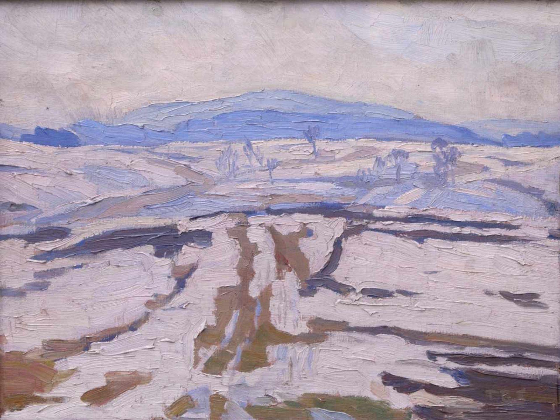 Schwemmer, Friedrich Rudolf (vor 1900 nach 1940) - Winterlandschaft um 1915Expressionistische - Bild 2 aus 5