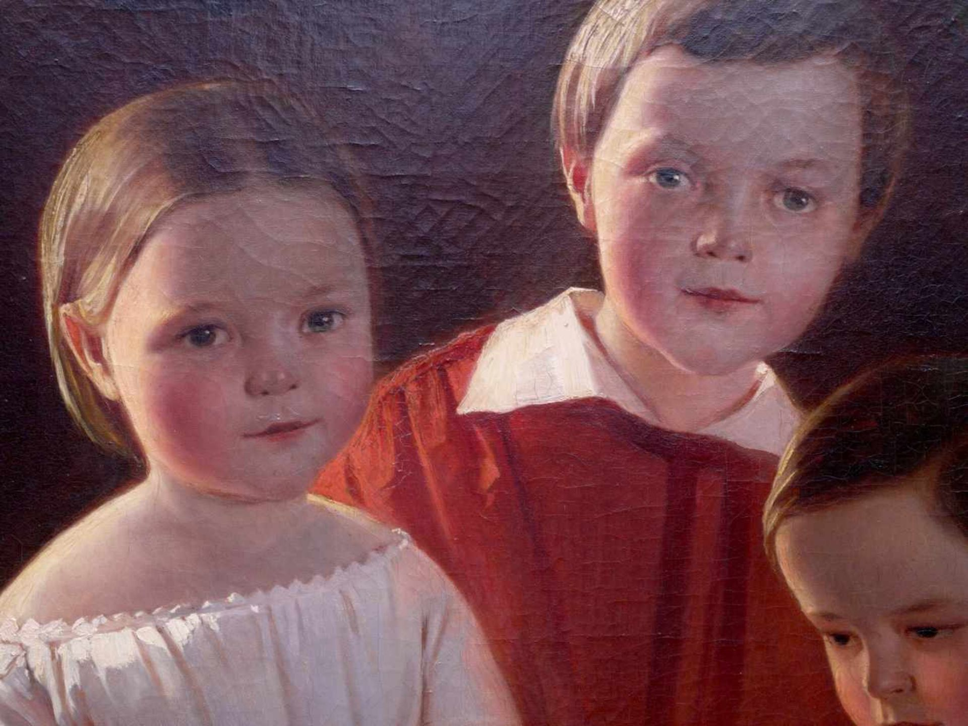 Karl Theodor von Piloty (1826-1886) - Portrait Familie Knauth in Leipzig 1849Großformatiges Portrait - Bild 4 aus 5