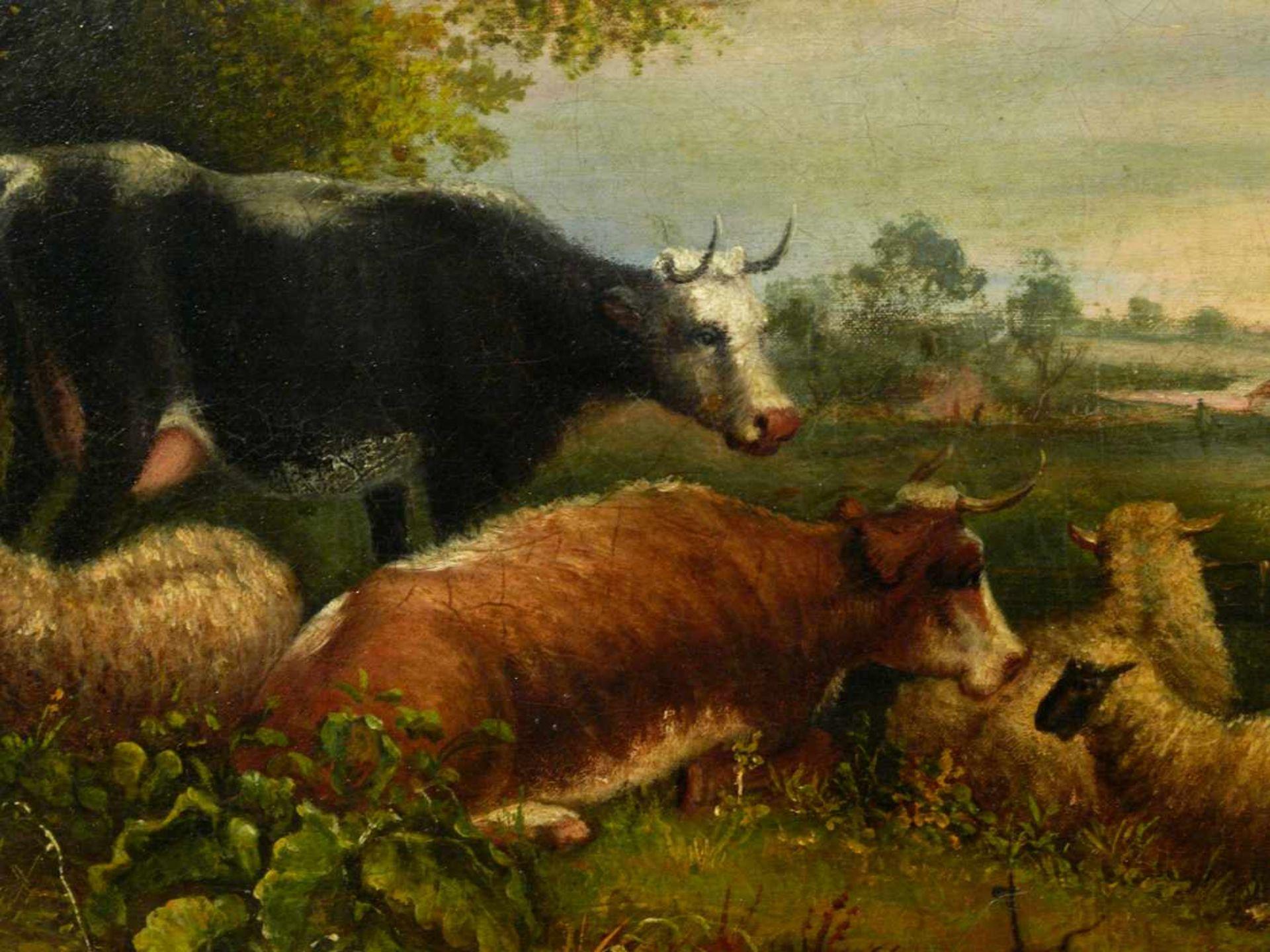 Van Os, Pieter Gerardus (1776-1839) - Romantische Landschaft mit Tieren und SchäferIdealistische - Bild 8 aus 8