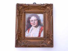 Bach, Andreas (1886-1963) nach Franz Hals - Aquarell ZigeunerinRotwangiges, offenherziges Portrait