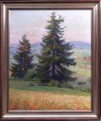 Böhme, Hans (1905-1982) - Felderlandschaft mit großer TanneDer Blick des Betrachters wird über ein