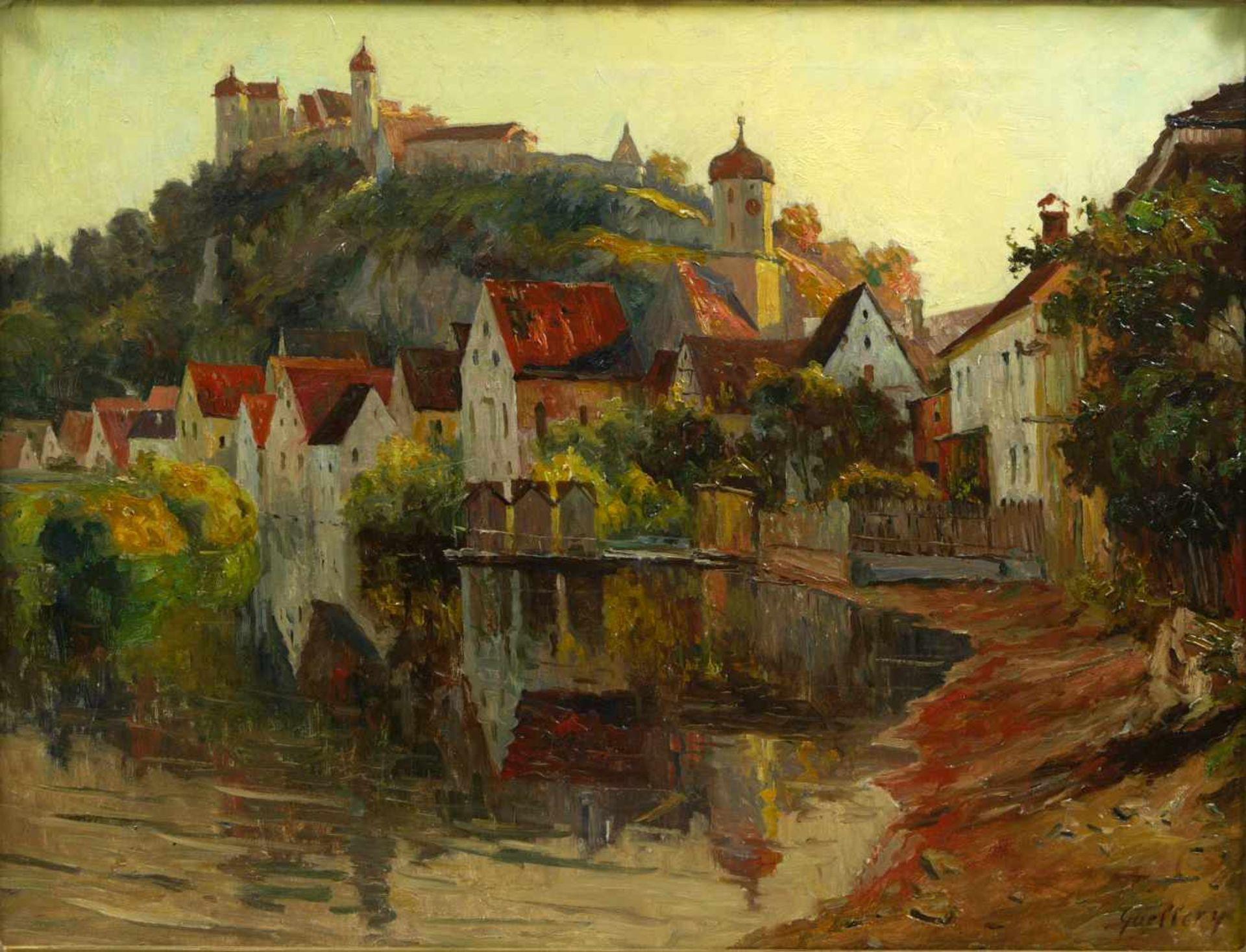 Guillery, Franz Paul Maria (1862-1933) - Blick auf Harburg a. d. WörnitzRomantische Darstellung - Bild 2 aus 6