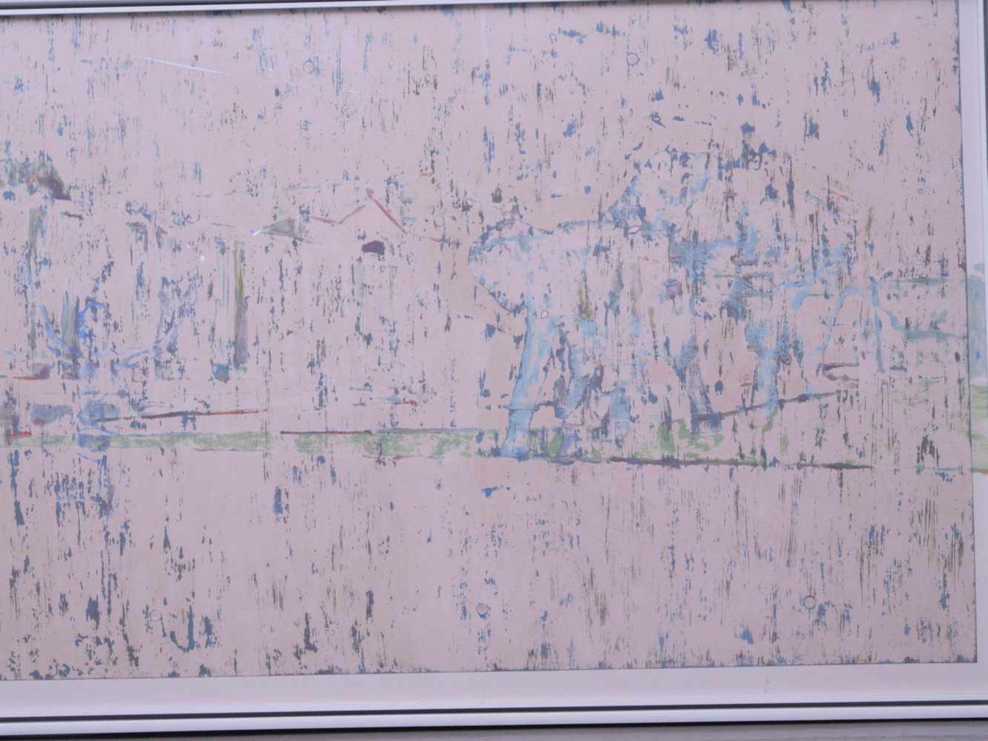 Dauphin, Peter genannt Muth (Nürnberg 1957) - Großformatiges Gemälde SavanneAbstraktes Querformat, - Bild 2 aus 3
