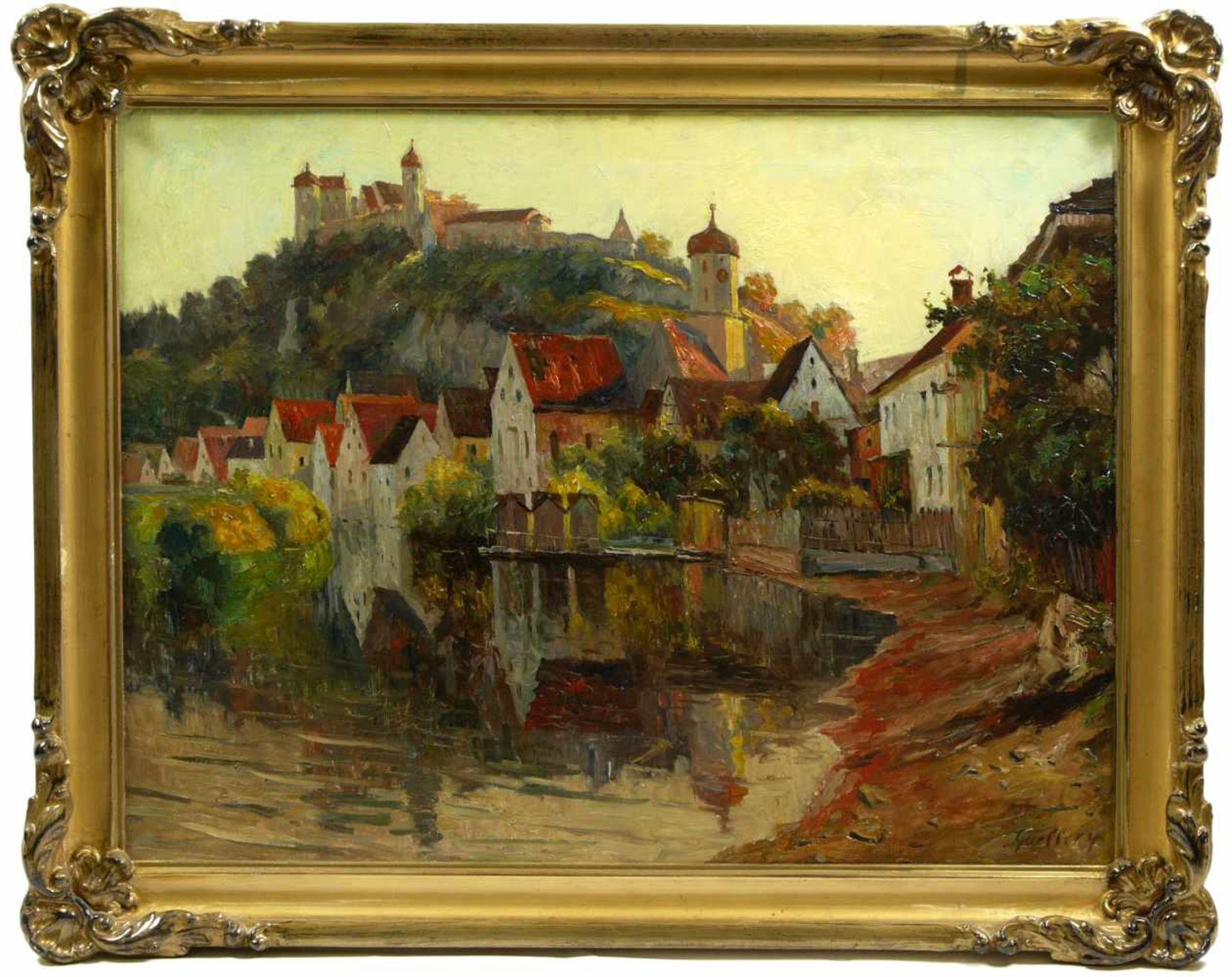 Guillery, Franz Paul Maria (1862-1933) - Blick auf Harburg a. d. WörnitzRomantische Darstellung