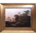 Van Borselen, Willem (1825-1892) - Rast im WaldHolländische Landschaftsmalerei, feinster