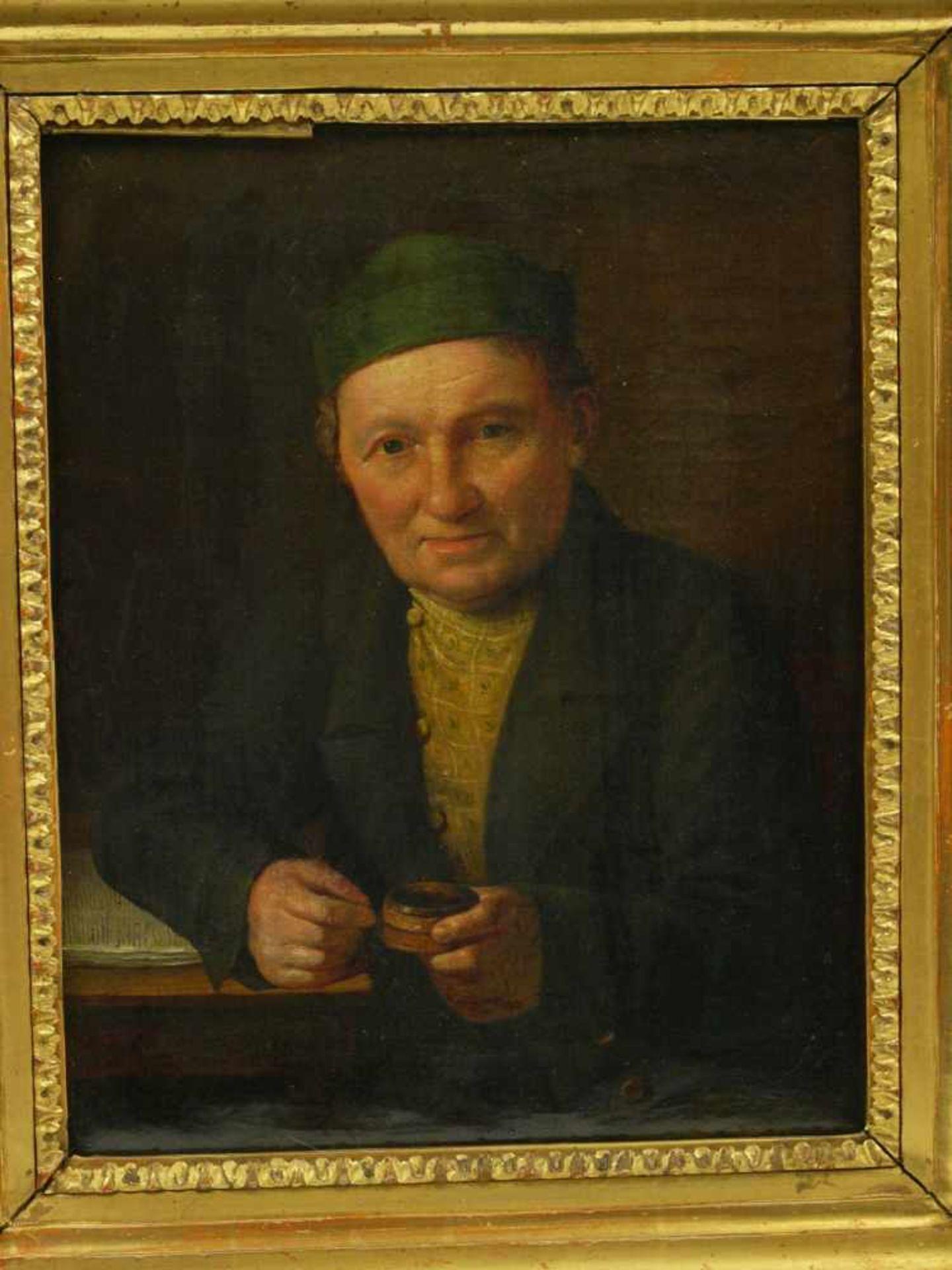 Sig. N. A?mayer - Portrait eines BürgersQualitativ hochwertig ausgeführtes Portait eines auf einen - Bild 2 aus 7