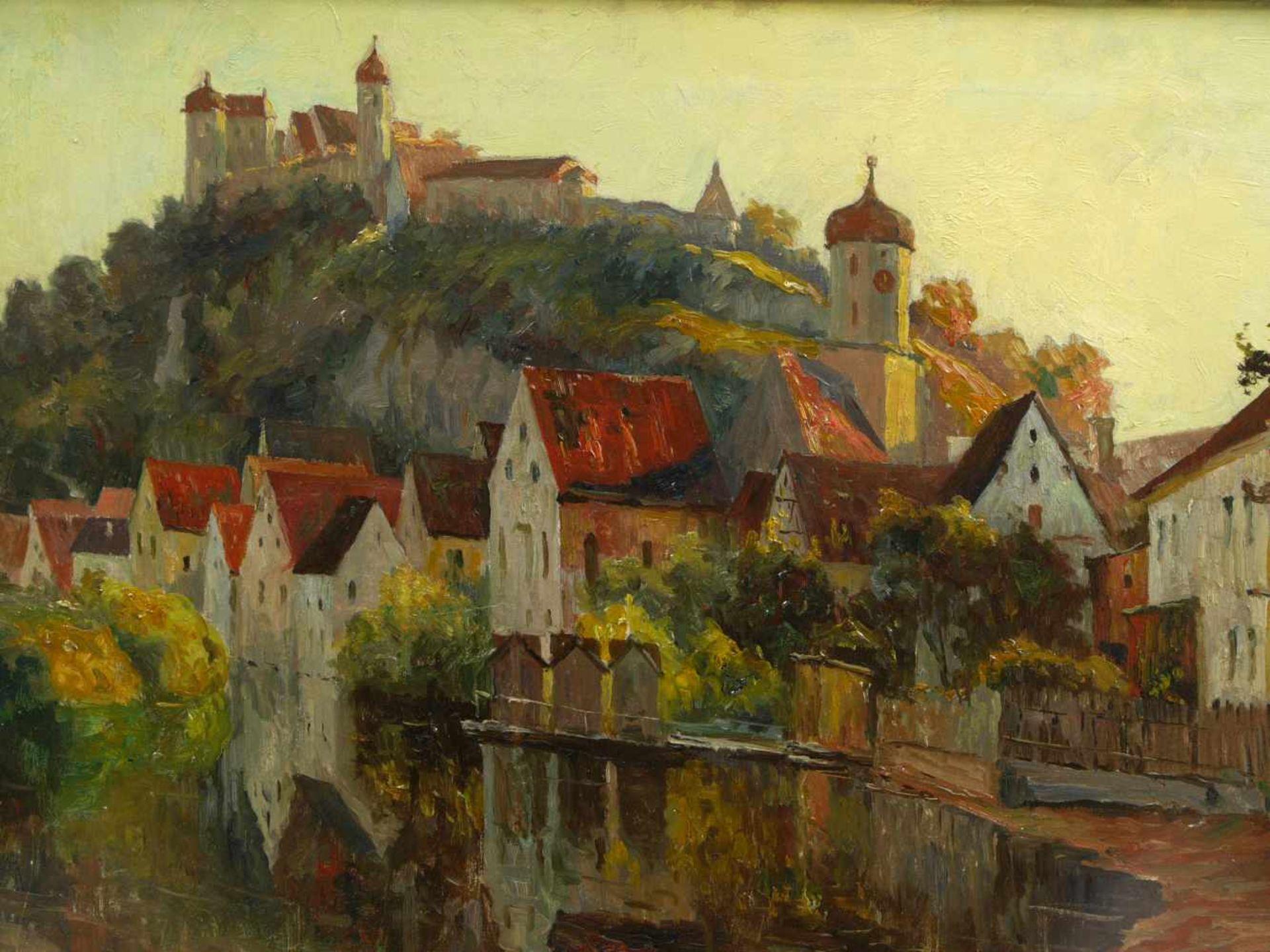 Guillery, Franz Paul Maria (1862-1933) - Blick auf Harburg a. d. WörnitzRomantische Darstellung - Bild 3 aus 6