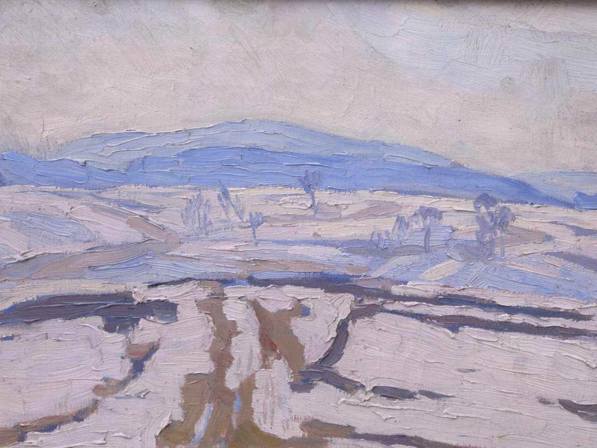 Schwemmer, Friedrich Rudolf (vor 1900 nach 1940) - Winterlandschaft um 1915Expressionistische - Bild 4 aus 5