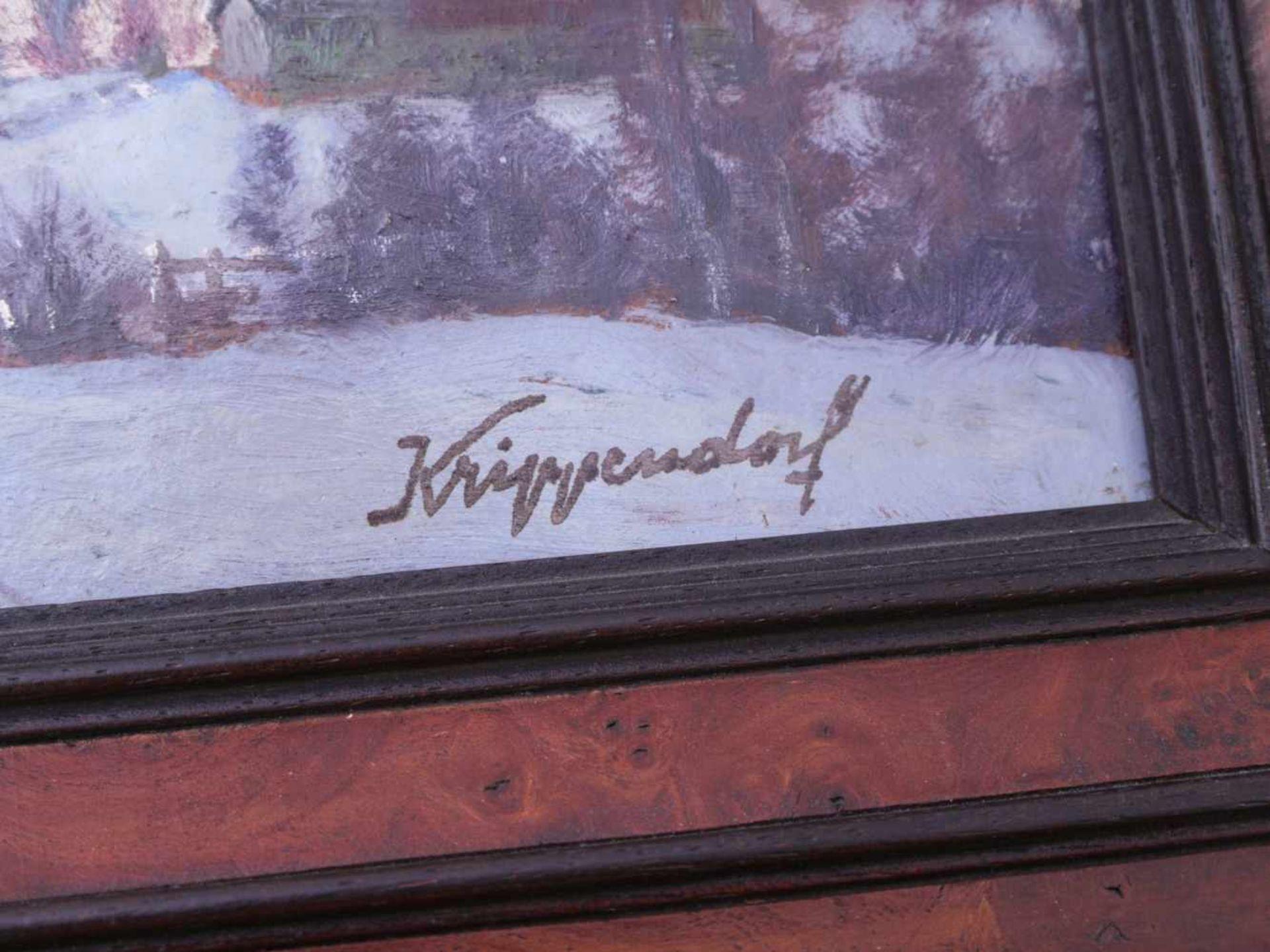 Krippendorf, Franz (1907-1982) - WinterlandschaftDekoratives gestrecktes Querformat. Darauf ein - Bild 3 aus 3