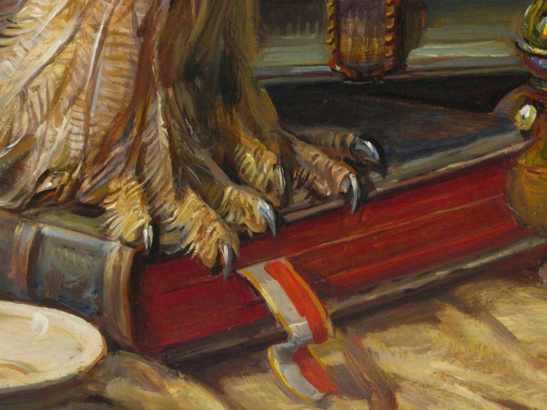 Kugler, Heinrich (1888- ca. 1946) - Symbolträchtiges Stillleben NürnbergGroßformatiges Gemälde in Öl - Bild 5 aus 8