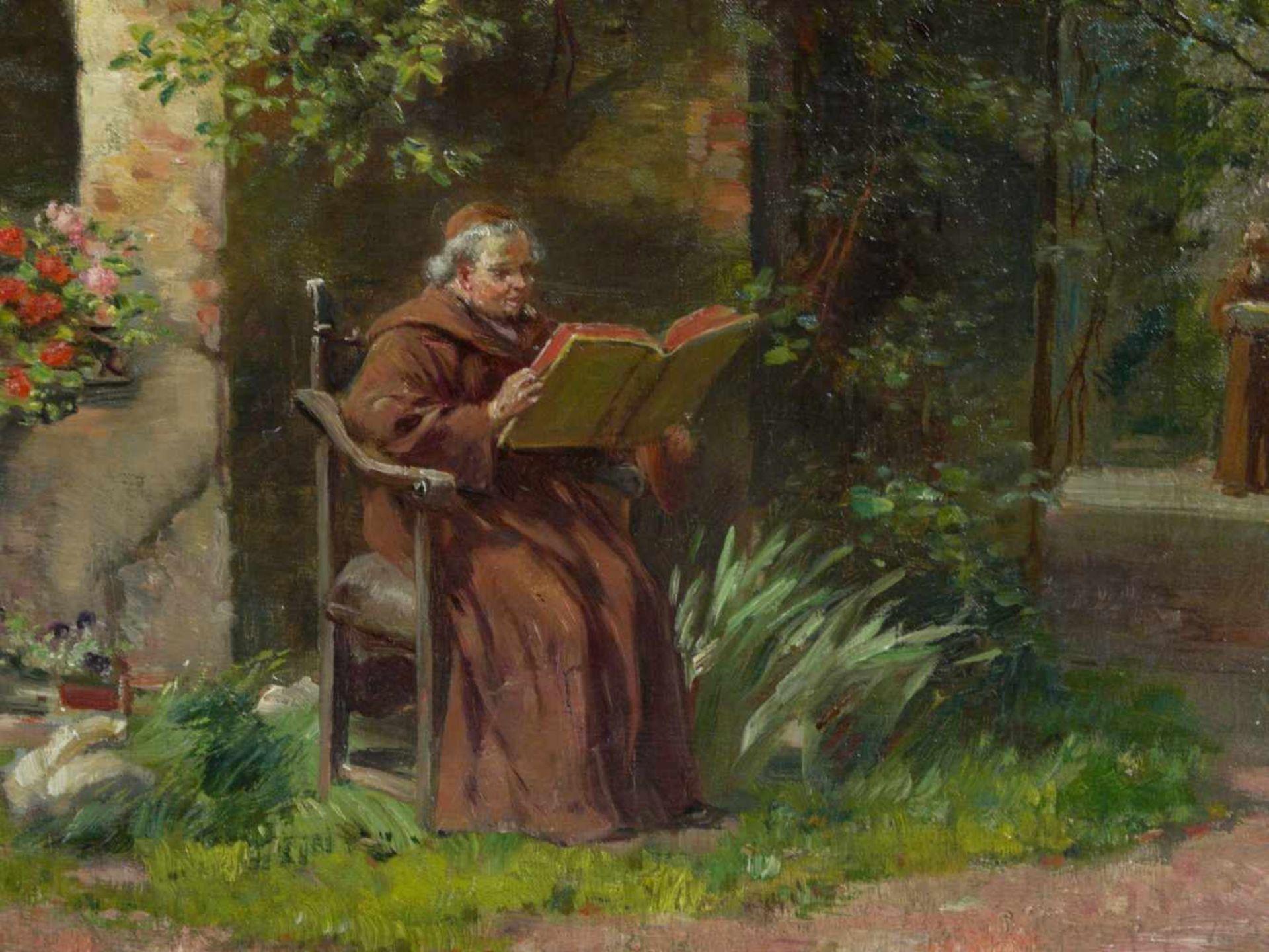 Schultheis, C. (20.Jhd.) - Ruhe im KlostergartenGefällige Darstellung mit der Ansicht eines - Bild 6 aus 6