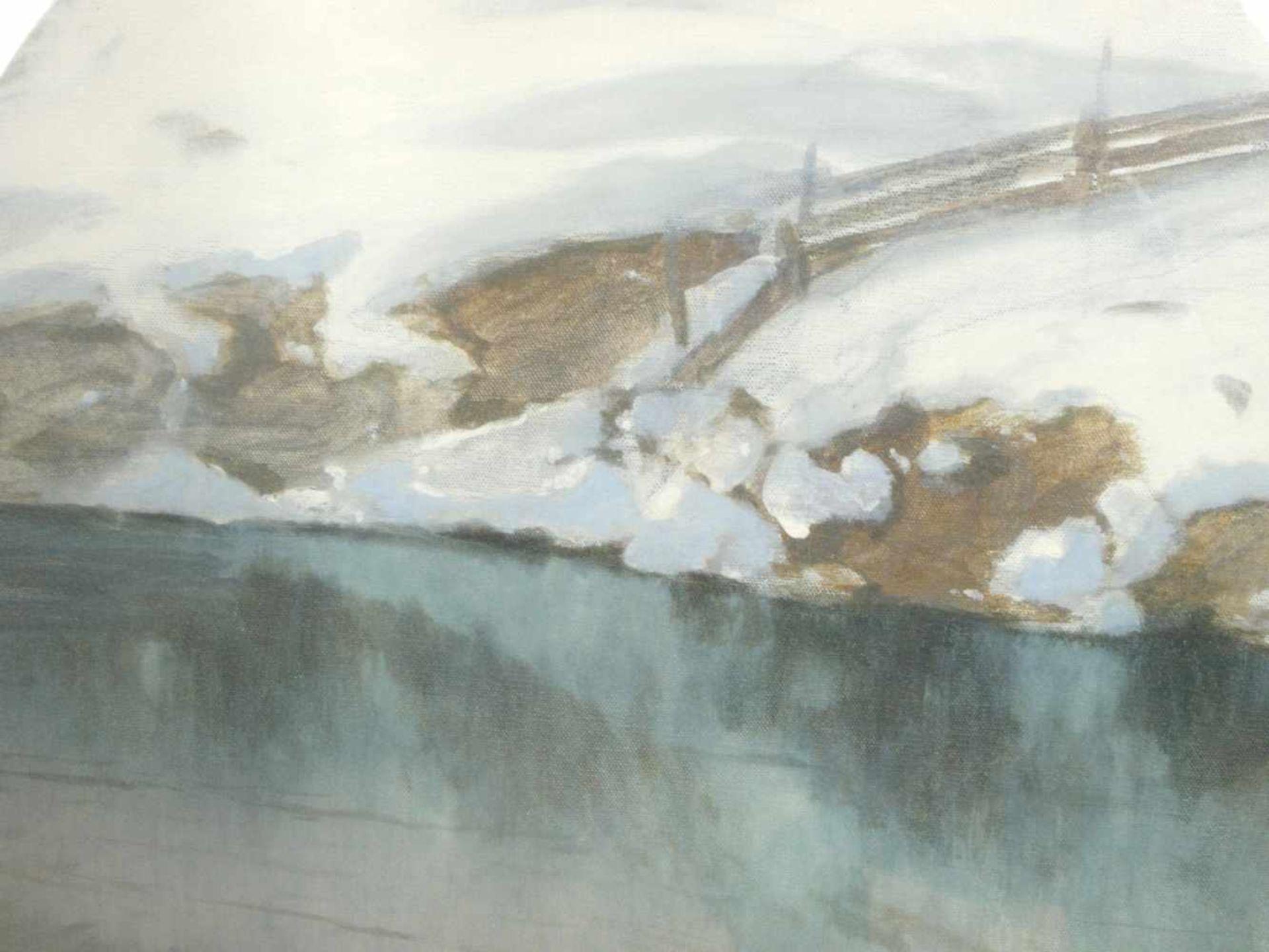 Hans Ritter von Petersen (1850-1914) - SchneeschmelzeIdyllische Winterlandschaft durch die ein - Bild 8 aus 8
