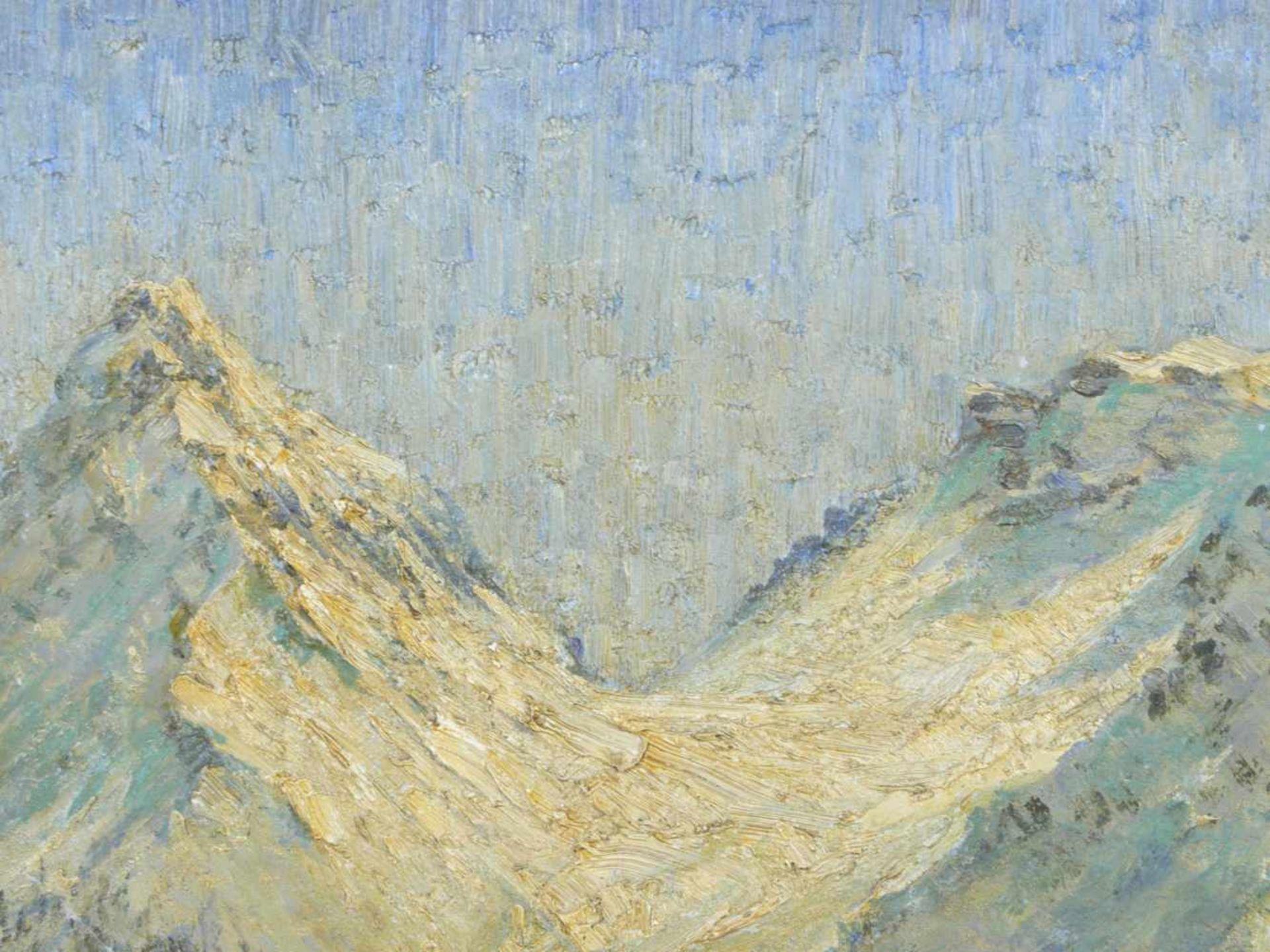 Koch, Michel (1853-1927) - Winterlandschaft Arosa 1915Winterliche Gebirgslandschaft mit idyllisch - Bild 6 aus 6
