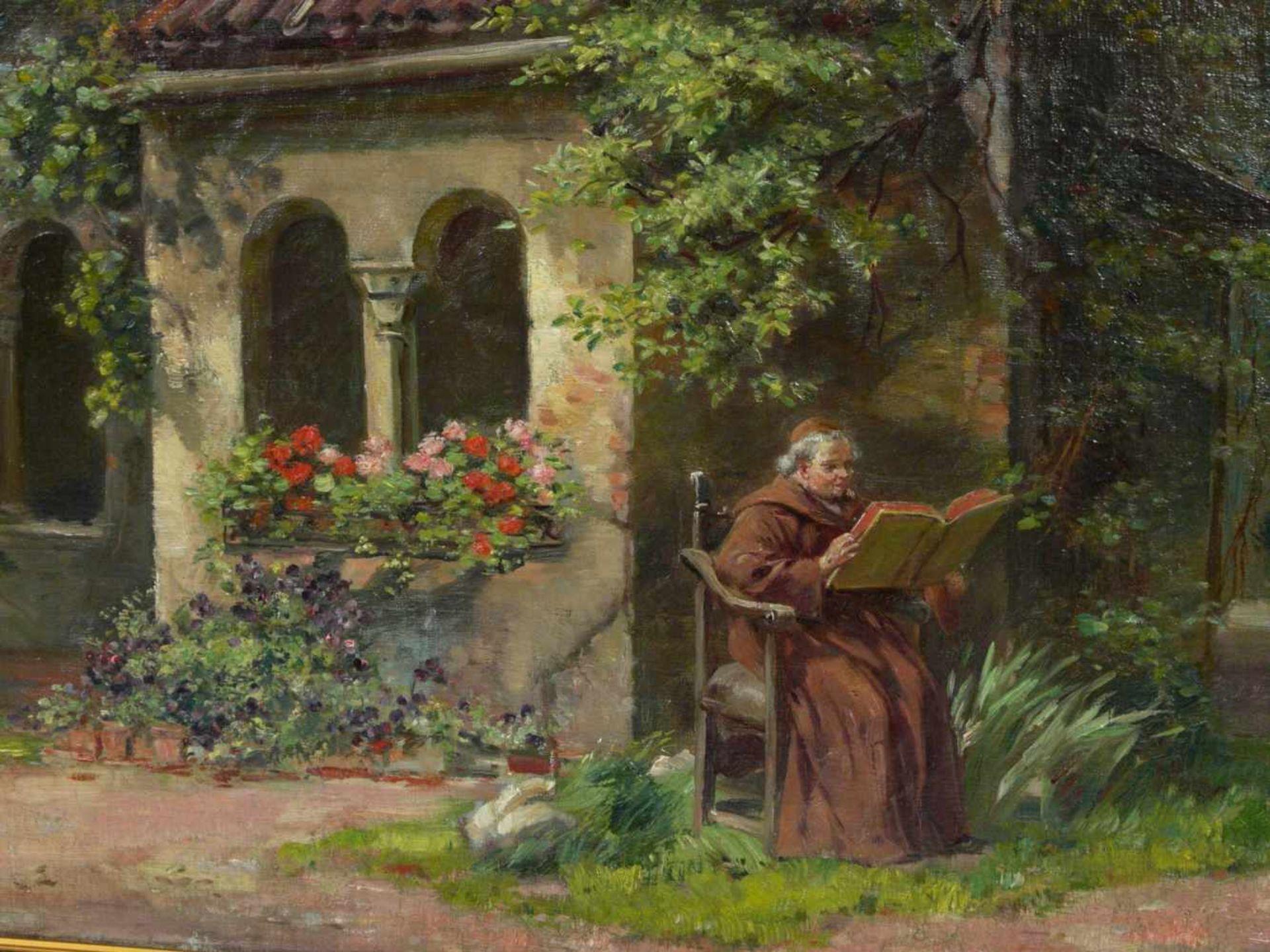 Schultheis, C. (20.Jhd.) - Ruhe im KlostergartenGefällige Darstellung mit der Ansicht eines - Bild 5 aus 6