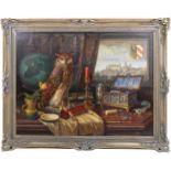 Kugler, Heinrich (1888- ca. 1946) - Symbolträchtiges Stillleben NürnbergGroßformatiges Gemälde in Öl