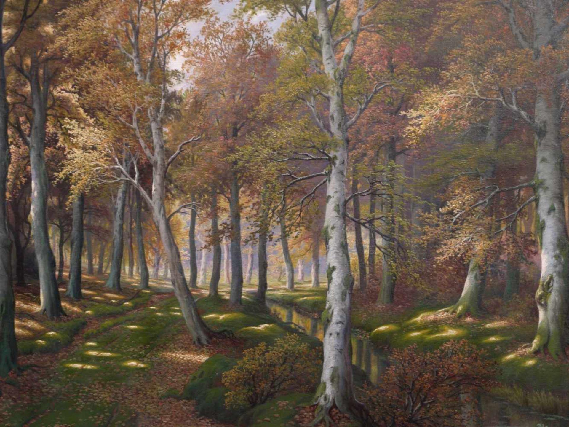 Schmidt, Gustav (1888-1972) - Lichter LaubwaldEin von hellem Licht durchfluteter Laubwald in - Bild 3 aus 7